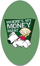 CafePress Family Guy My Money Oval Bumper Sticker, Euro Oval Car Decal