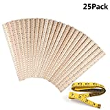 25 Pack Wood Rulers Wooden Ruler School Rulers Office Rulers and Clothing...
