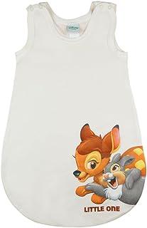 Kleines Kleid Disney - Bambi Baby- und Kinder- Sommer-Schlafsack ÄRMELLOS aus Baumwolle, UNGEFÜTTERT, mit Bambi und Klopfer, GRÖSSE 56-62, 68-74, 80-86, mit Druck-Knöpfen und Bein-Freiheit
