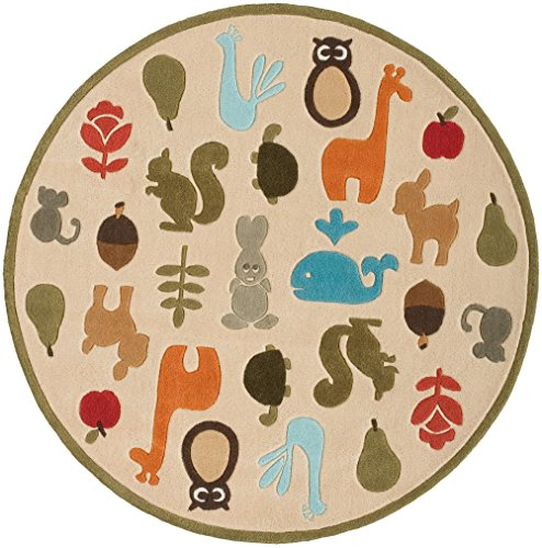 Momeni Rugs Lil' Mo Whimsy Collection Teppich, elfenbeinfarben, 5'0
