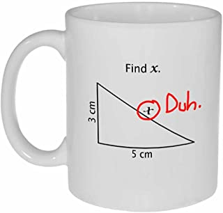 Find X Funny Math Coffee or Tea Mug