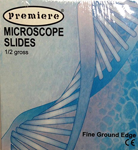 Premiere Premium Glass Microscope Slides, 9101, 1' x 3', 1 Gross /144ct