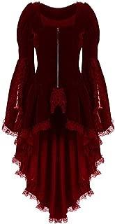 Vibola Women Tailcoat Jacket Long-Sleeved Waist Bandage Lace Stitching Tuxedo Suit Suit Corset