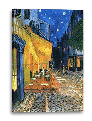Printed Paintings Leinwand (60x80cm): Vincent Van Gogh - Nachtcafé/Nachts vor dem Café an der Pla