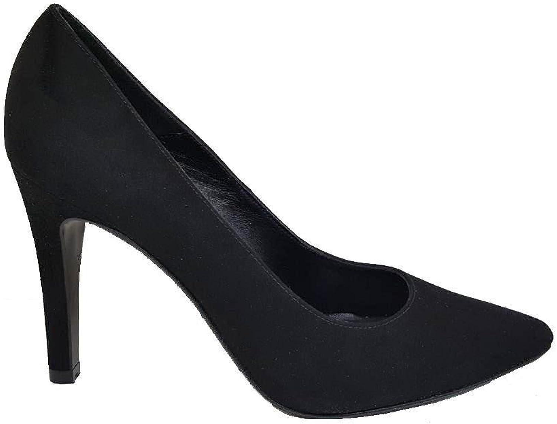 Gennia Mezquita - Damen Leder Schuhe und Nadelabsatz 9 cm mit geschlossener Zehe