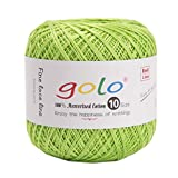 golo Crochet Thread for Size 10 Grass Green Yarn for Hand Knitting