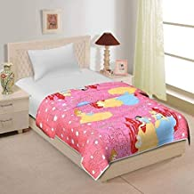 Home Spaces Microfiber Cartoon Print Single Bed Reversible AC Blanket Dohar (Multicolour)