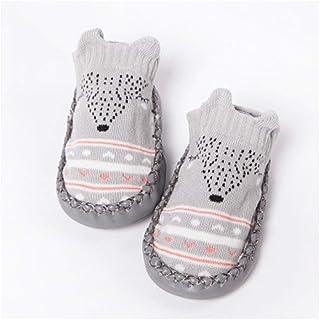 LiuQ, LiuQ Bebé Calcetines del bebé con Suelas de Goma for bebé calcetín recién Nacidos de otoño Invierno de los niños de Suelo Calcetines Calzado Anti Slip Suavemente único calcetín