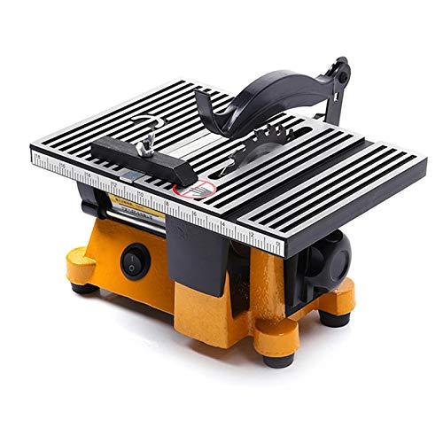 SIRUL Mini Sega da Tavolo, utensile da Taglio da Tavolo Multifunzionale per la Lavorazione del Legno Fai-da-Te, con 2 Lame per Sega in Metallo con taglierina per Vetro in Metallo