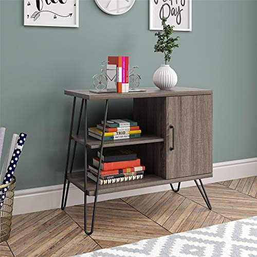 Ameriwood Home Haven 3 Shelf, Distressed Gray Oak Bookcase