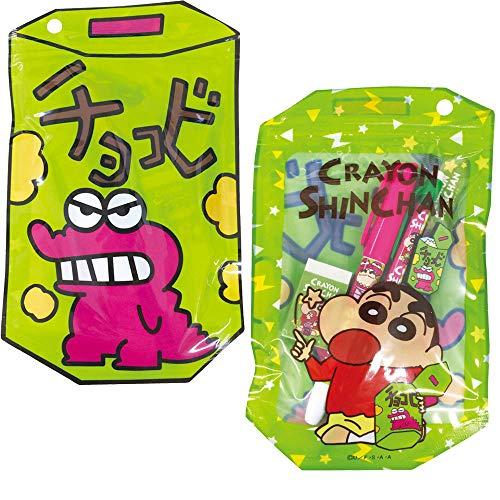 クレヨンしんちゃん[文具セット]チョコビパッケージ入り ステーショナリー 5点セット/グリーン
