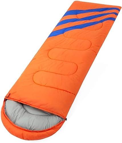 HUACANG Sac De Couchage Froid Camping Convient pour Le Printemps Camping épais Et Chaud en Plein Air Sac De Couchage De Natation Printemps Camarades De Classe (Couleur   Orange, Taille   2.3kg)