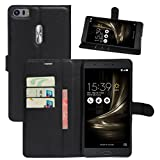 HualuBro Cover ASUS ZenFone 3 Ultra ZU680KL, Flip Case in PU Pelle Premium Portafoglio Cover [Funzione Stand] [Slot Carte] Leather Wallet Phone Custodia per ASUS ZenFone 3 Ultra ZU680KL 6.8' (Nero)
