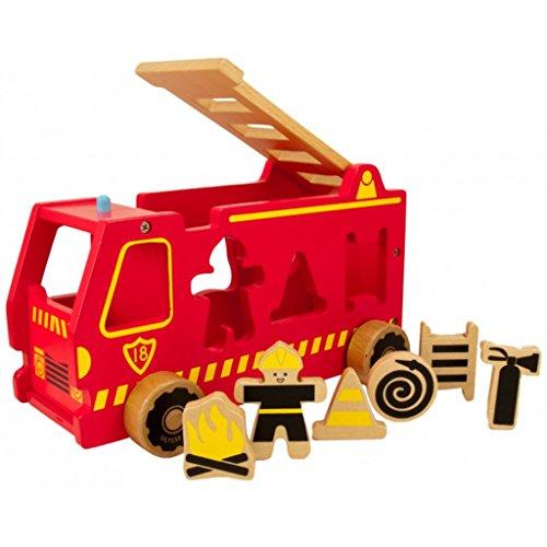 Ulysse - 3900 - Jeu De Construction - Camion A Formes - Pompier
