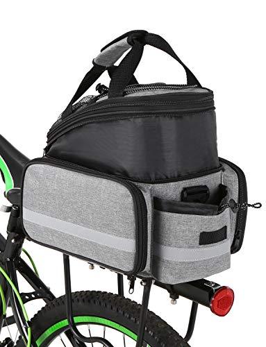 Lixada Fahrrad Gepäckträgertasche Multifunktions Erweiterbare wasserdichte MTB Fahrradtaschen Gepäckträger Fahrradträgertasche mit Regenschutz
