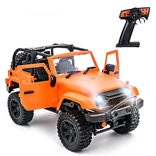 CUIGANGZ 1:14 Scala Rc. Auto - Veicolo telecomandato da 2,4 GHz, 4WD. Camion Crawler Fuori Strada. Auto da Corsa elettrica 30 km/h. Giocattolo for Auto da Hobby for Adulti e Bambini. RTR.