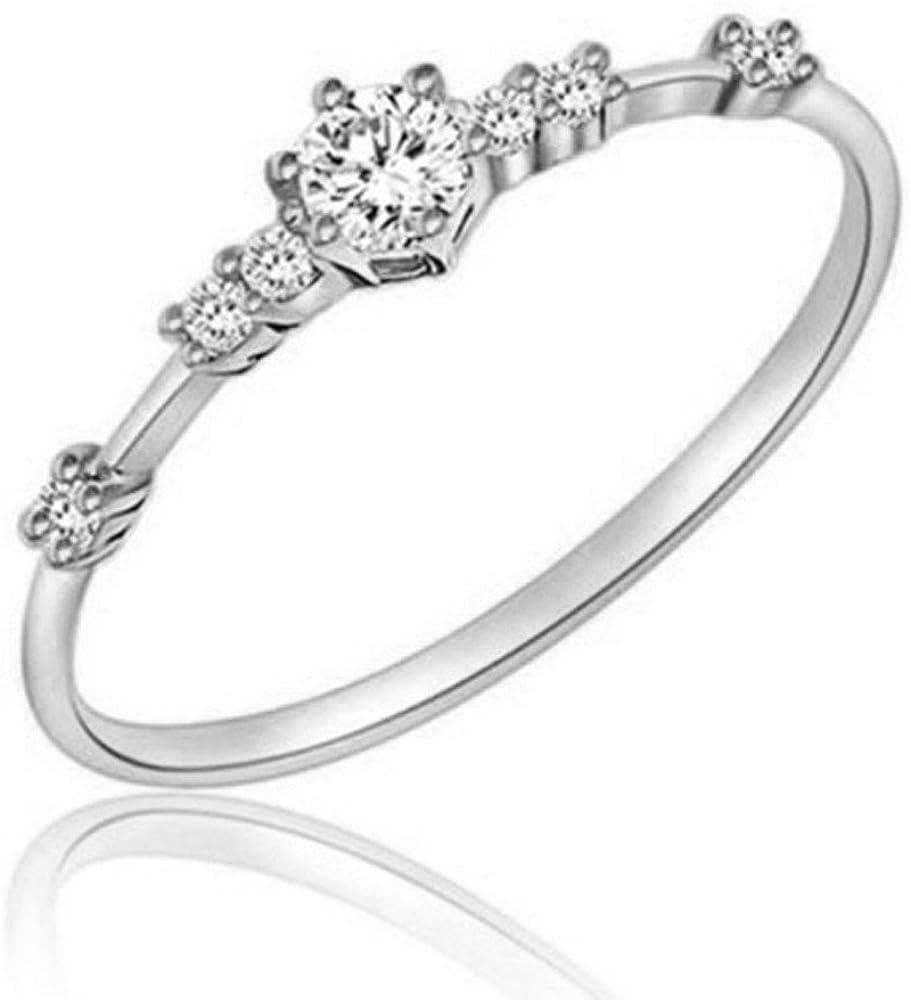Chaofanjiancai Max Oakland Mall 71% OFF Women's Ring Diamond Crystal Flower