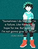 Sometime I Do Feel Like I'm a Failure...: lined notebook journal 100 Pages (8.5 x 11 inches), Personalized for anime and manga lovers