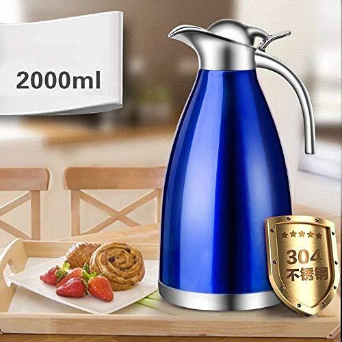 ASDFGH Thermos 304 dikke liner isolatie pot huishoudelijke roterende pot vacuüm grote capaciteit 2L thermoskan
