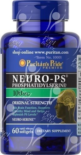 Puritan's Pride Neuro-Ps, Fosfatidilserina -100mg x60caps