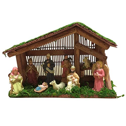 guangtouqiang Deluxe Edition Christmas Nativity Set,Handmade Resin Home Decoration,Nativity Sets for Christmas Indoor