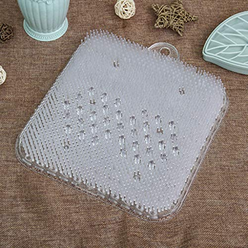 jieGorge Foot Massage Shower Silicone Exfoliating Scrub Mat Cleaning Massage Cushion Pad , Home Products Sales , for Halloween Day (White