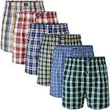 Charles Wilson 6 Pack Woven Boxer Shorts (Large, Multi Check 57)