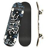 Komplettboard Skateboard 31x8 Zoll Cruiser Skateboard für Kinder...