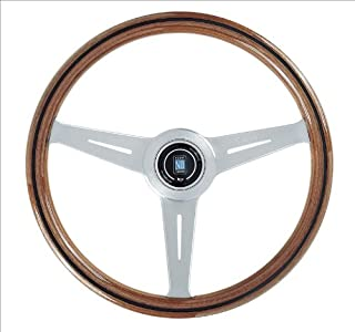Nardi Steering Wheel - Classic - 360mm (14.17 inches) - Wood with Satin Aluminum Spokes # 5051.36.6300