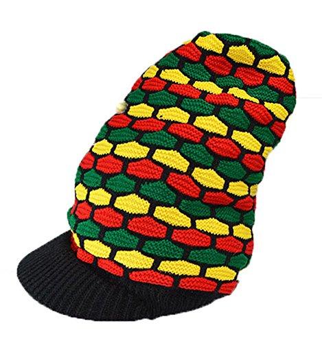 KGM Accessories Couleur Rasta Grand Froid Dreadlocks Casquette Style Bob Marley