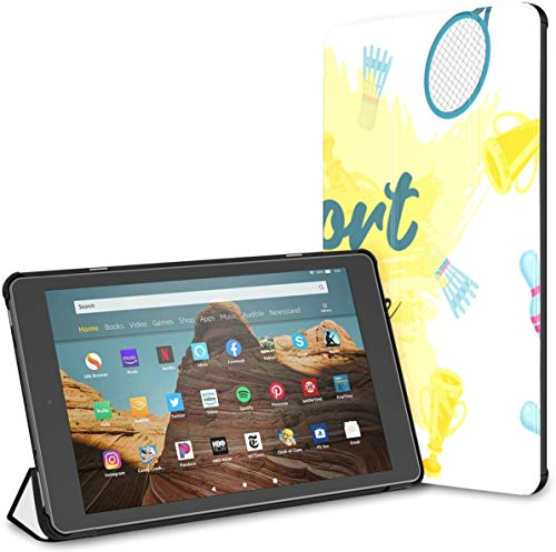 Estuche para Raqueta de bádminton y Raqueta de Tenis Fire HD 10 Tablet (9.a / 7.a generación, versión 2019/2017) Estuche de protección para Kindle Fire HD 10 Estuche Auto Wake/Sleep para Tableta de