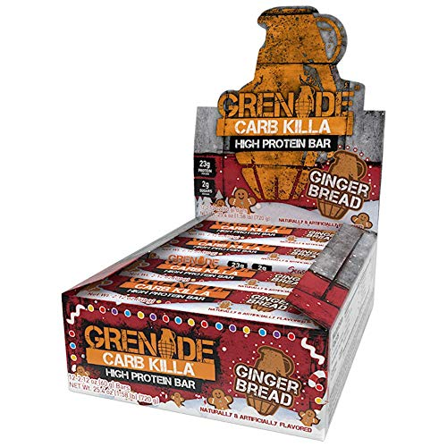 Grenade Carb Killa High Protein and Low Carb Bar, Gingerbread, 12 x 60 g