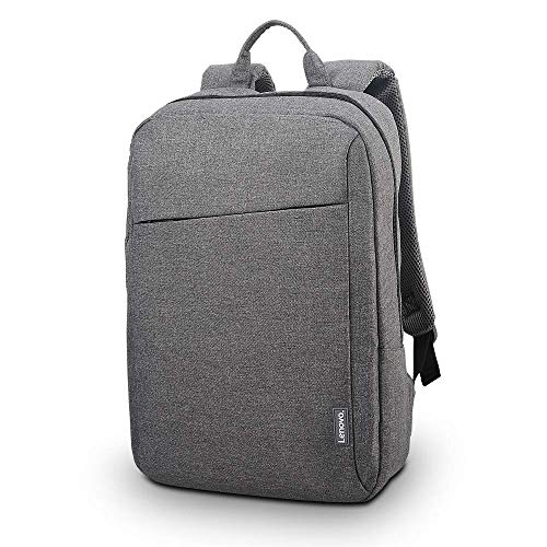 Lenovo Laptop Backpack B210, fits for 15.6-Inch laptop and tablet, sleek for travel, durable, water-repellent fabric, clean design, business casual or college, for men women students, GX40Q17227, Grey