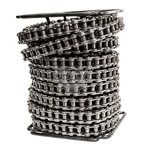 Jeremywell 80 Roller Chain 50 Feet with 5 Connecting Links