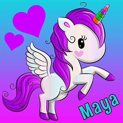 Maya: Personalized Unicorn Journal for Girls