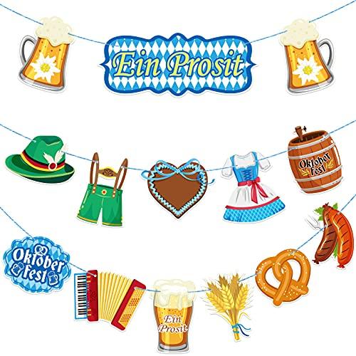 PRETYZOOM Oktoberfest Flagge Banner Amerikanischen Bier Festival Girlande Bayerischen Stil Bunting Oktoberfest Party Banner Foto Hintergr& Oktoberfest Party Dekoration Lieferungen