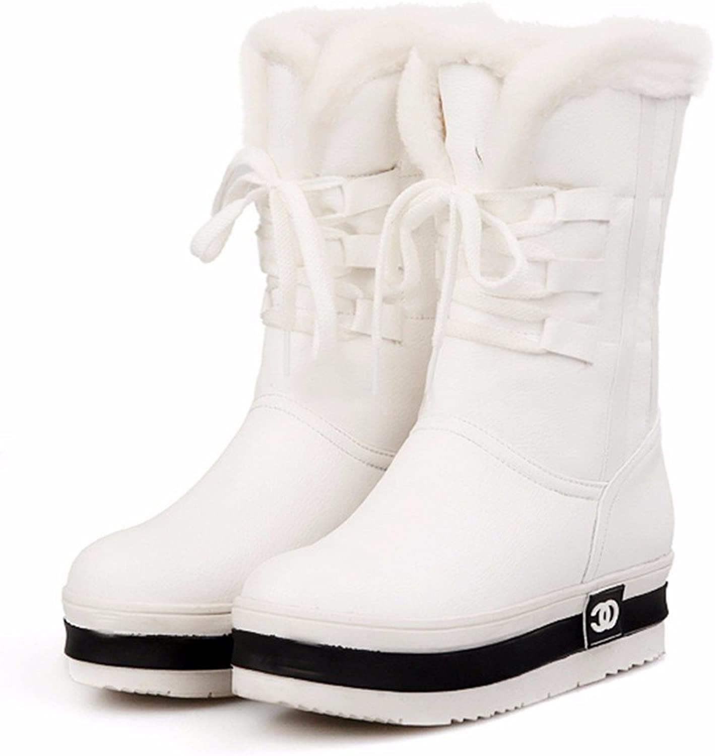 YJNB 2016 New Strap-In-Tube Platform Round The Snow Thickened Insulated Boots