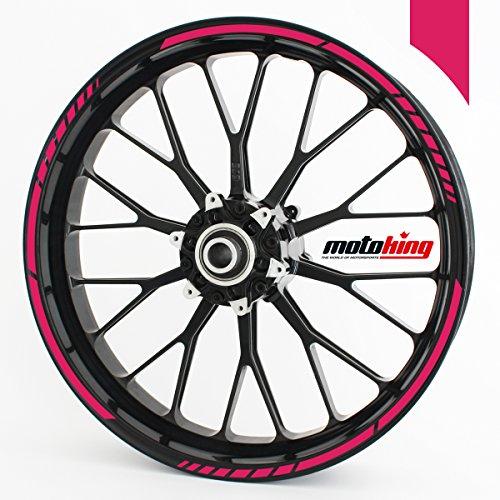 Felgenrandaufkleber GP im GP-Design passend für 17 Zoll Felgen für Motorrad, Auto & mehr - Pink matt