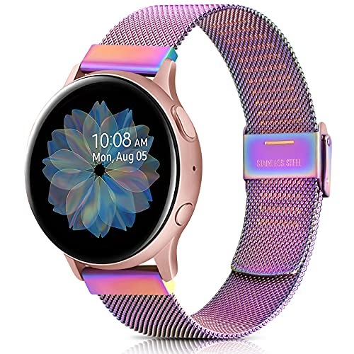Mugust Cinturino 20 mm per Samsung Galaxy Active 2 40mm 44mm/Active 40mm/Galaxy Watch 3 41mm/Samsung Galaxy Watch 42mm, Morbido Cinturini per Gear S2 Classic/Gear Sport, con Strumenti