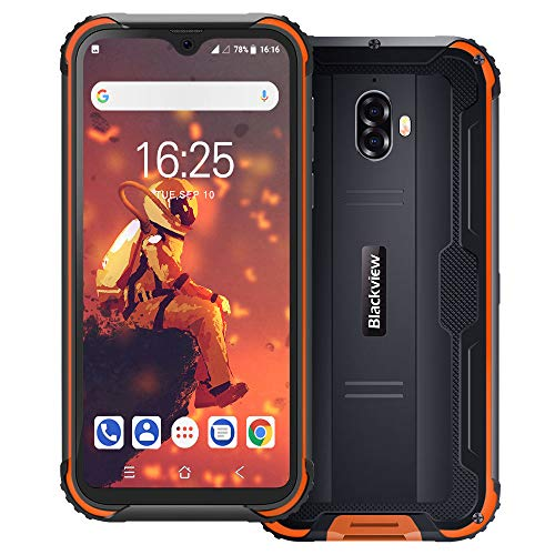 Rugged Cell Phones Unlocked 5V/2A, Blackview BV5900 4G 5580mAh Rugged Smartphone 5.7 Inches HD + Waterdrop Display Android 9.0 13MP + 5MP 3GB+32GB(TF Up to 128GB) Rugged Phone NFC/Fingerprint/Face ID