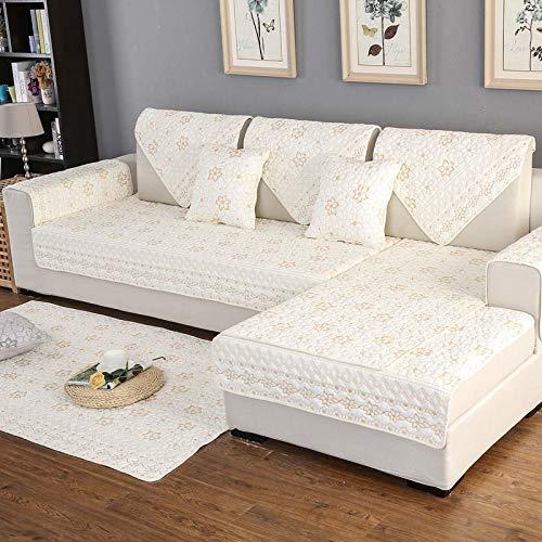 Hybad überzug für Sofa,couchüberwurf,Couch Cover Kinder Hund Katze Kombination Sofa Handtuchbezug, universelle Couchbezüge, Wohnzimmer Fußpolster, Bett Kopf matt-weiß_70 * 70cm