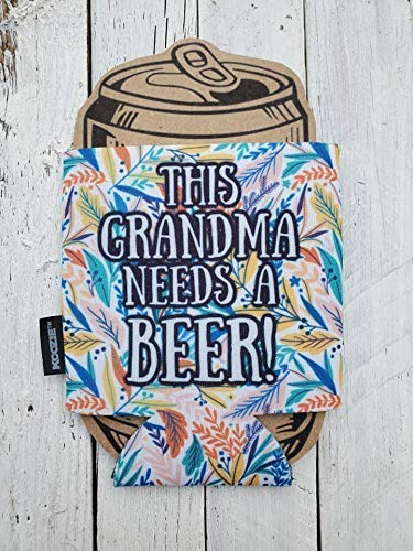 Cheap sale Grandma Needs a Beer Sales of SALE items from new works Funny Can Day Mothers Cooler Gift Coozie Pa