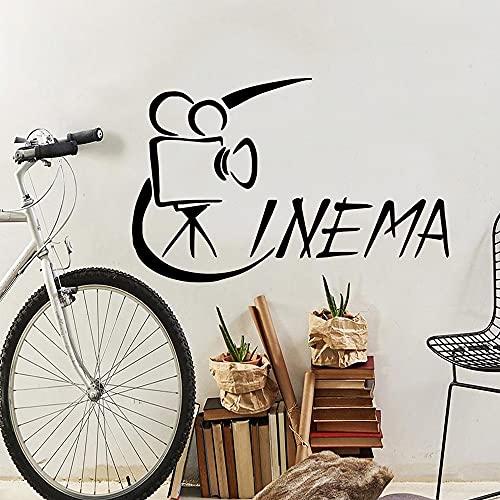 Pegatinas de pared de cine de estilo de dibujos animados pegatinas de pared de moda decoración de la habitación de los niños calcomanías de arte de pared a prueba de agua A6 57x88cm