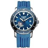 JIUSKO 75LSBL0808 - Reloj para Hombres, Correa de Silicona Color Azul