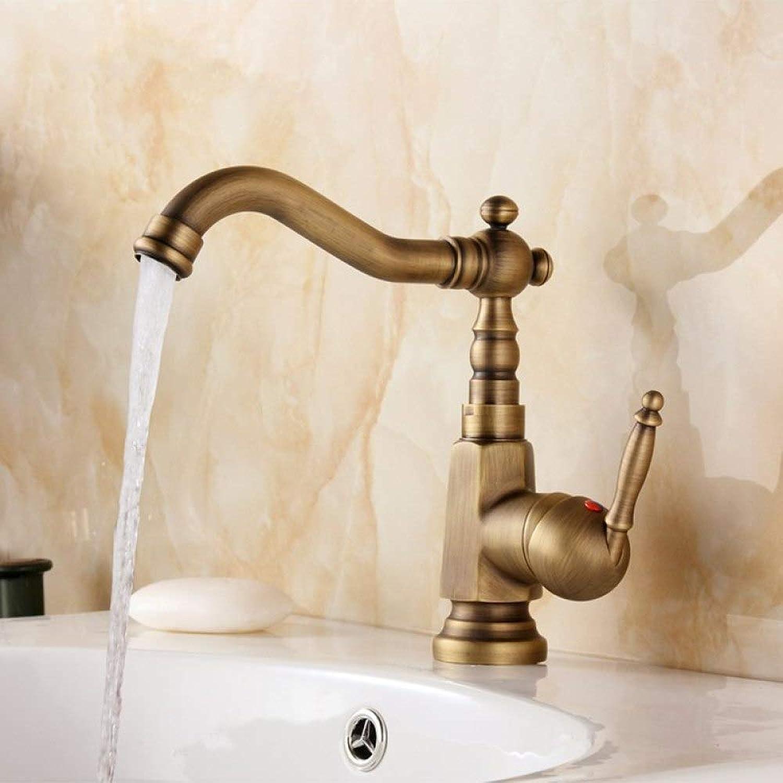 SLTYSCF wasserhahn Einhebel-Badezimmer-Hahn-antiker Messing-heier und kalter Wasserhahn 360 Grad-drehender Toiletten-Hahn-Duschhahn