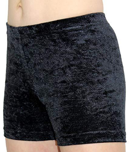 GymStern Hotpants Turnhose Shorty aus bi-elastischen Crash Samt | ML110891 Farbe Schwarz, Größe 164