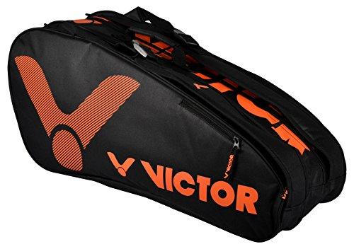 Victor vicor Doub Lethe rmobag Limited bádminton Funda, Blue, 76x 33x 26cm, Unisex, VICOR Doublethermobag Limited Orange, Naranja