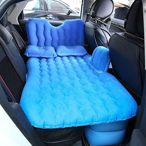 LXUXZ Materasso Gonfiabile per Auto, Campeggio, con Cuscino, Bagagliaio, da Viaggio, per 2-3 Persone (Color : Blue, Size : 135x90cm)