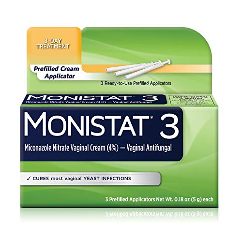 Monistat 3-Day Yeast Infection Treatment | Pre-Filled Cream Applicators
