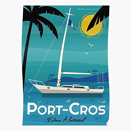 Generic Yacht Port CROS Sailing Sail Moored Ocean Boat Coastline Home Decor Wandkunst drucken Poster !
